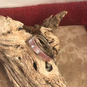 Jewelry - Unique Navajo Handmade Sterling Silver Pink Muscle